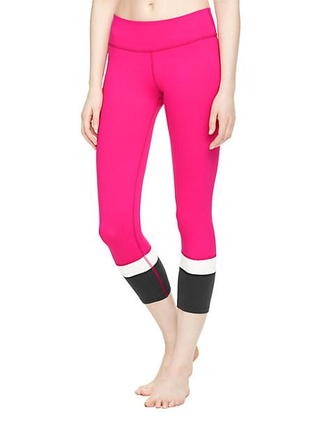Kate Spade Banded Capri Legging, Deep Carnation - Size L