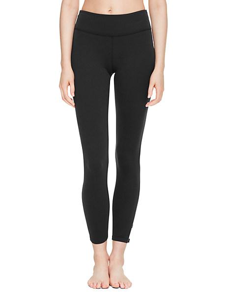 Kate Spade High Waist Bow Capri Legging, Black - Size XS