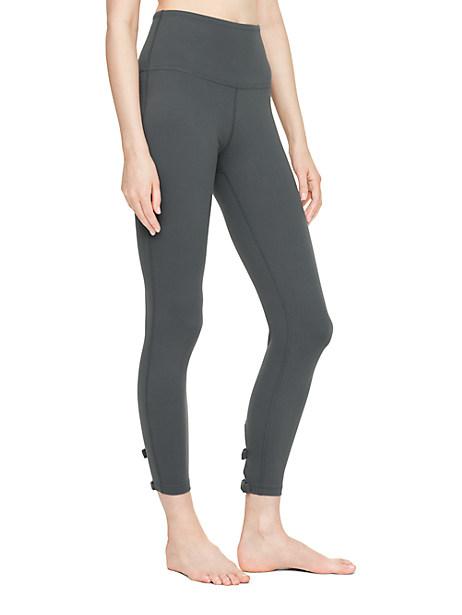 Kate Spade High Waist Bow Capri Legging, Smoky Quartz - Size L