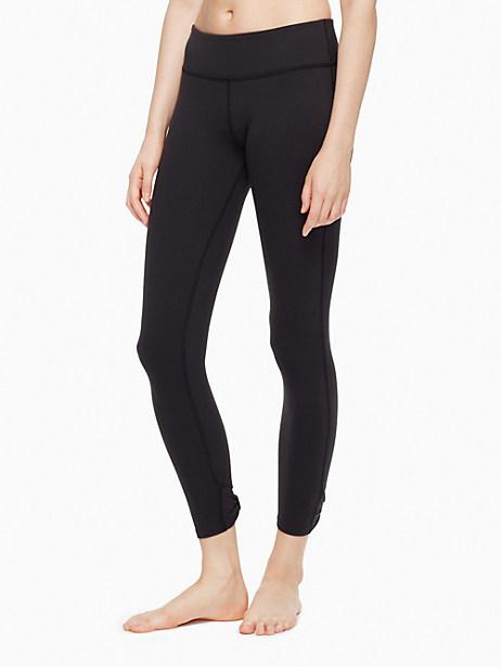 Kate Spade Cinched Bow Capri Legging, Black - Size L