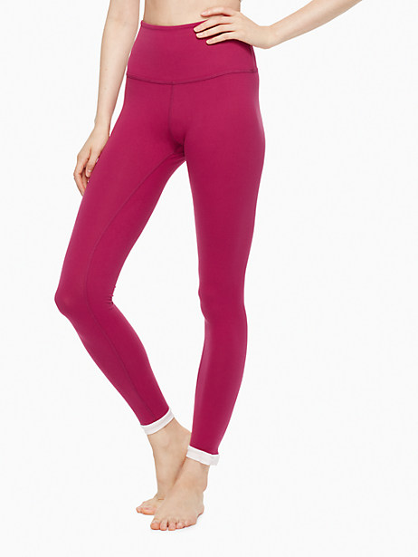 Kate Spade Blocked Frame Long Legging, Zinfandel/Satin Slipper - Size L