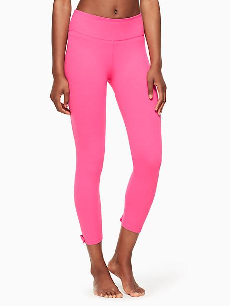 Kate Spade Leaf Bow Capri Legging, Pink Swirl - Size L