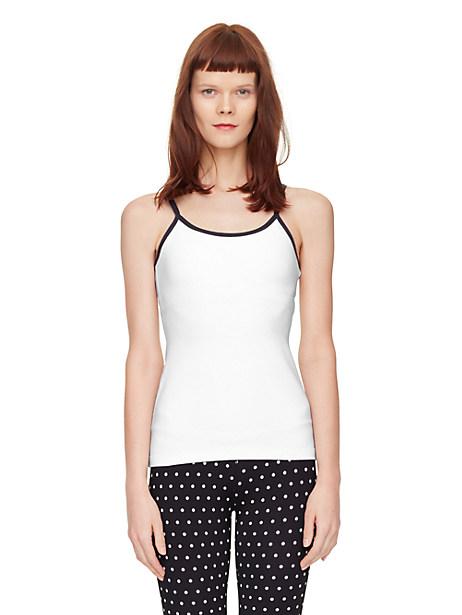 Kate Spade Triple Bow Cami, White - Size XL