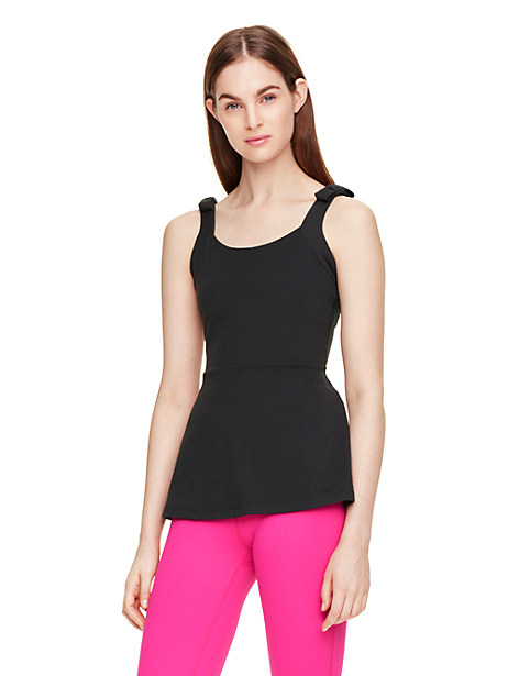 Kate Spade Peplum Cami, Black - Size S