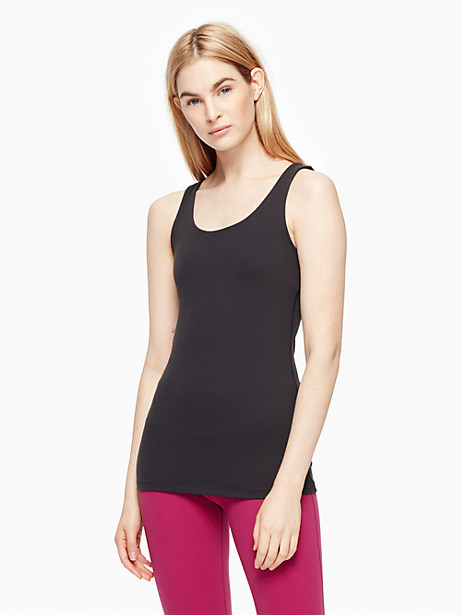 Kate Spade Cinched Bow Tank, Black - Size M