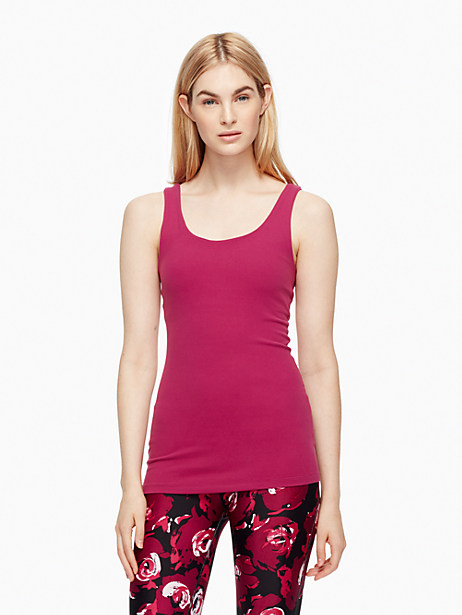 Kate Spade Cinched Bow Tank, Zinfandel - Size L