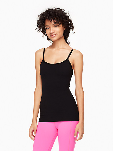 Kate Spade Cinched Back Bow Tank, Black - Size L