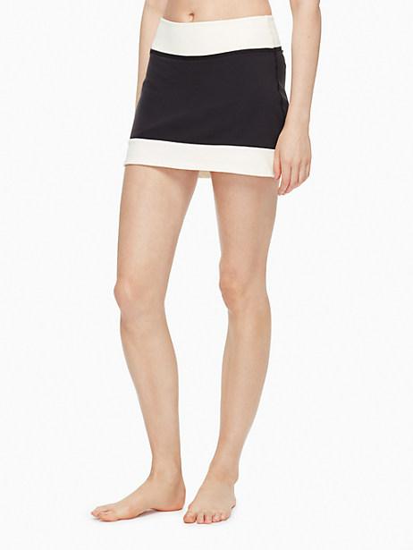 Kate Spade Blocked Frame Skirt, Cream/Black - Size L