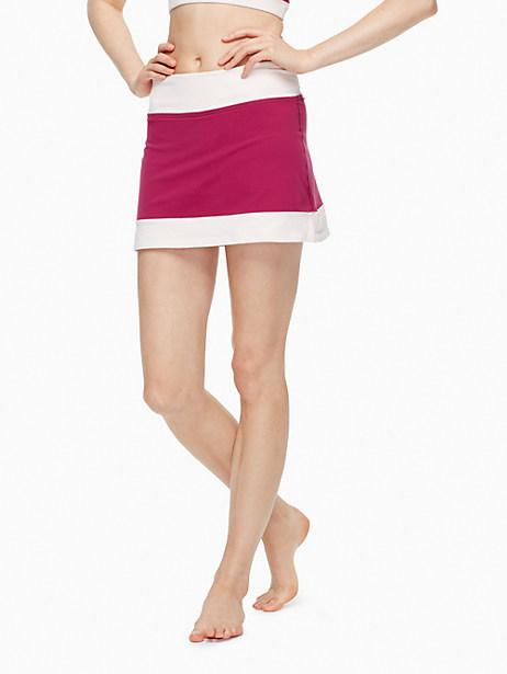 Kate Spade Blocked Frame Skirt, Satin Slipper/Zinfandel - Size L