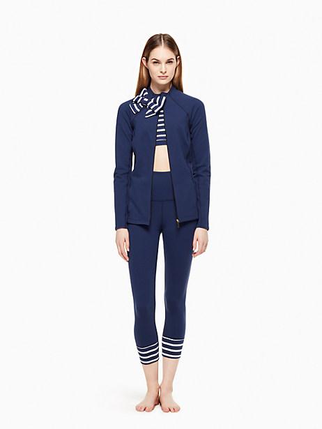 Bow Neck Jacket, Navy/Sailing Stripe - Size L