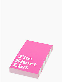 short list pad