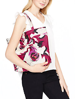 on purpose sweetheart pink floral tote by kate spade new york