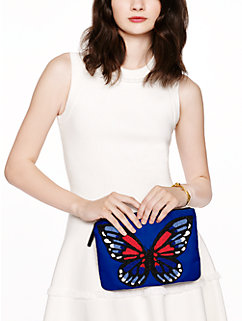 on purpose beaded butterfly clutch by kate spade new york