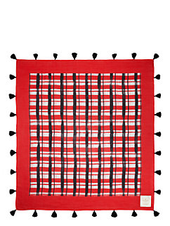 on purpose plaid scarf by kate spade new york
