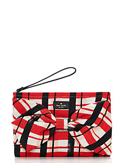 on purpose red plaid wristlet by kate spade new york