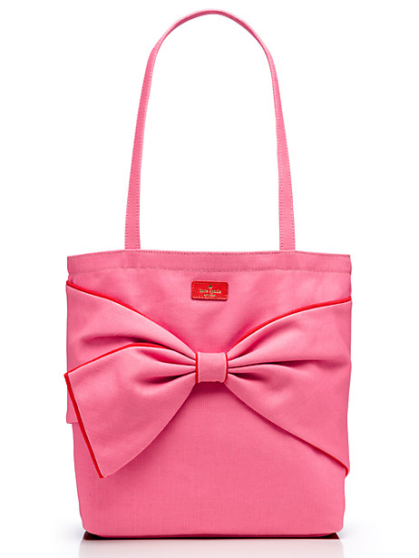 Kate Spade On Purpose Canvas Colorblock Tote, Flamingo Pink/Maraschino