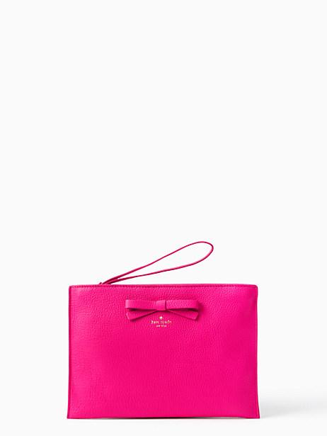 Kate Spade On Purpose Leather Wristlet, Cabaret Pink