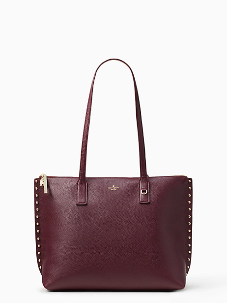 on purpose studded leather tote by kate spade new york
