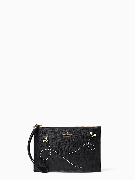 bee mini leather wristlet by kate spade new york