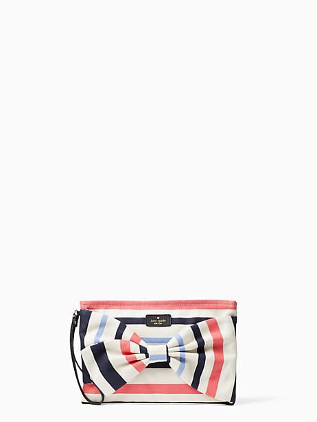 fairmont stripe canvas wristlet by kate spade new york