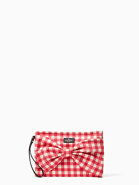 gingham canvas wristlet by kate spade new york
