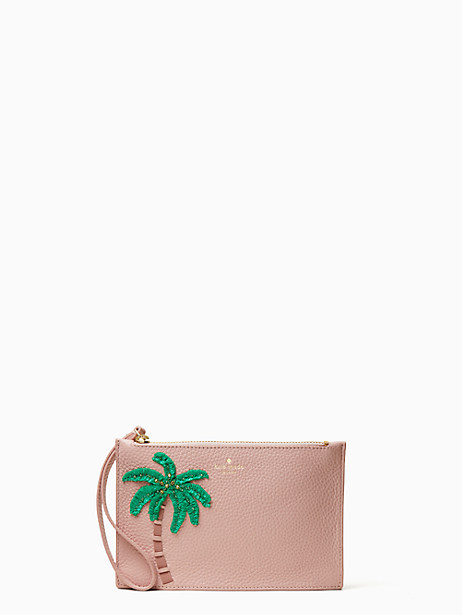 on purpose embellished mini leather wristlet by kate spade new york