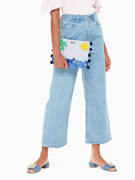 on purpose hey sunshine embellished clutch by kate spade new york