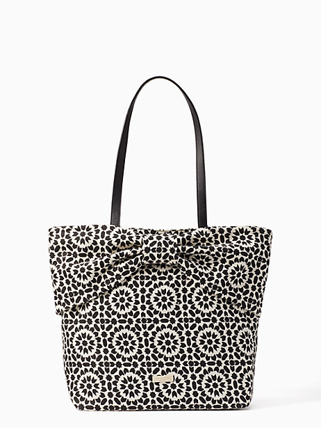 on purpose floral mosaic canvas bow tote by kate spade new york