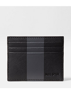 Striped Barrow Leather 6-Card Holder