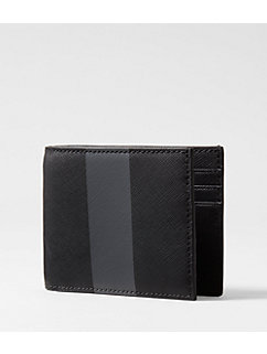 Striped Barrow Leather Slim Billfold