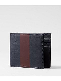 Striped Barrow Leather Slim Billfold