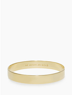 solid gold idiom bangle by kate spade new york