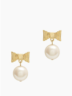 all wrapped up pearls drop earrings