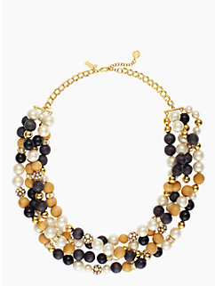 wood you be mine twisted statement necklace by kate spade new york