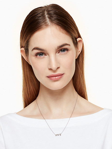 "say yes ""mrs"" necklace by kate spade new york"