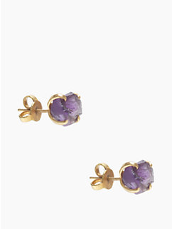the royal bazaar amethyst studs