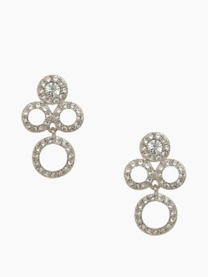 delicate dots chandelier earrings