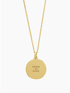 good as gold idiom pendant