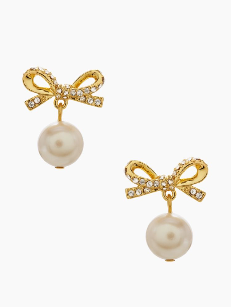 skinny mini pearl drop earrings