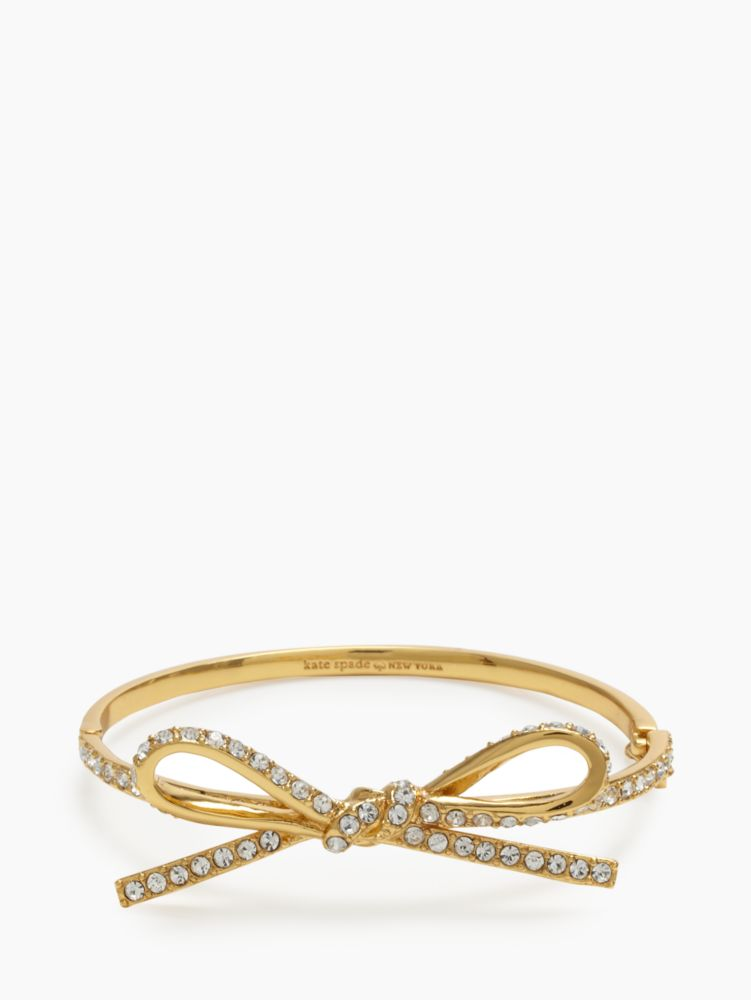 skinny mini pave bow bangle