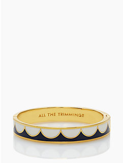 all the trimmings gold hinged bangle