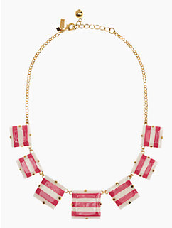 stripe setting short necklace
