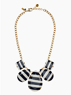 stripe setting statement necklace