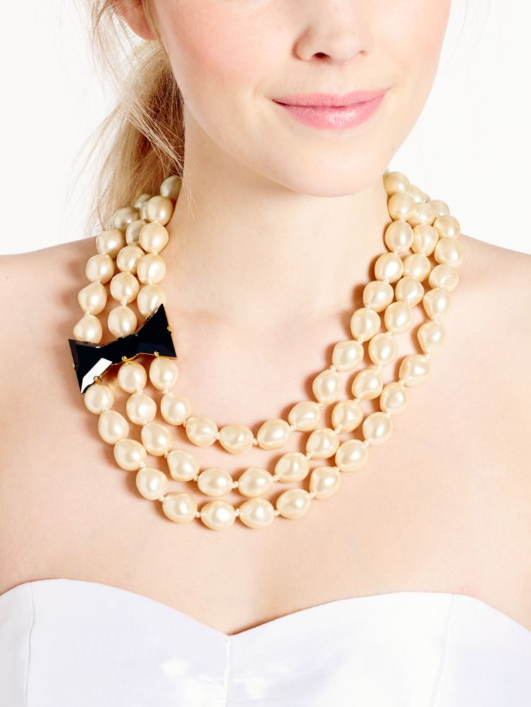 black tie optional triple strand necklace