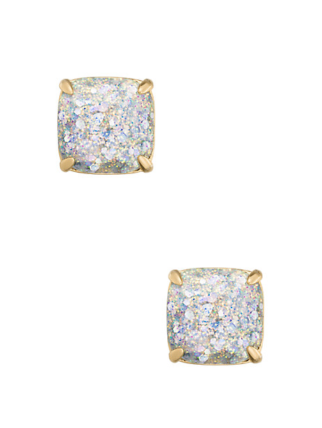 Kate Spade Small Square Studs, Opal Glitter