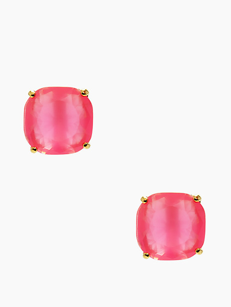 Kate Spade Small Square Studs, Flo Pink