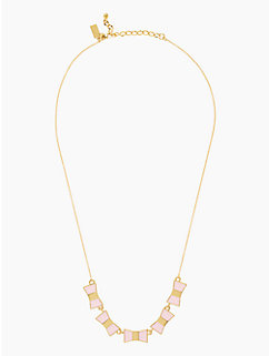 bow shoppe row necklace
