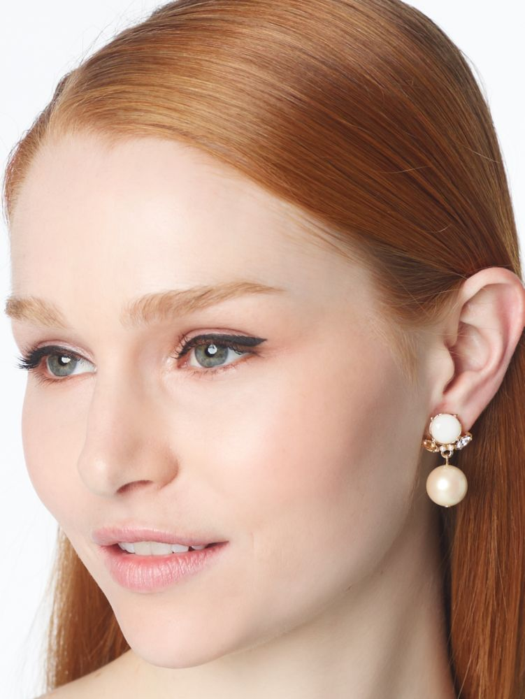 belle fleur pearl drop earrings
