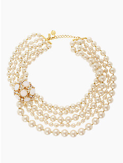 belle fleur pearl statement necklace