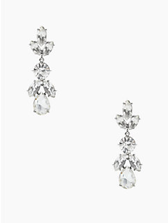 crystal petals drop earrings